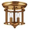 This item: Gentry Heirloom Brass 9.5-Inch Two-Light Flush Mount