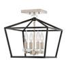 This item: Stinson Black Four-Light Semi-Flush Mount