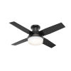 This item: Dempsey Matte Black 44-Inch Outdoor Two-Light LED Ceiling Fan