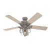 This item: Starklake Quartz Grey 52-Inch Outdoor LED Ceiling Fan