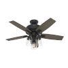 This item: Bennett Matte Black Three-Light LED 44-Inch Ceiling Fan