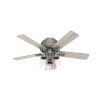 This item: Hartland Matte Silver 44-Inch Three-Light LED Ceiling Fan