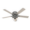 This item: Hartland Matte Silver 52-Inch Three-Light LED Ceiling Fan