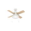 This item: Loki Fresh White 36-Inch LED Ceiling Fan