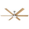 This item: Warrant Brushed Nickel 70-Inch DC Motor LED Ceiling Fan
