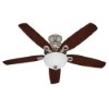 This item: Builder Deluxe Brushed Nickel Two Light 52-Inch Ceiling Fan