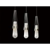 This item: Link Vintage Platinum One-Light Pendant with Clear Bubble Glass