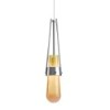 This item: Link Vintage Platinum One-Light Pendant with Gold Bubble Glass
