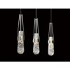 This item: Link Vintage Platinum One-Light Pendant with Clear White Threading Glass