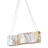 This item: Big Four-Light Waive Linear Pendant with Reclaimed Kabebe Shell