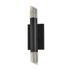 This item: Acryluxe Kyber Matte Black Two-Light LED Wall Sconce