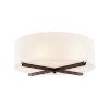 This item: Acryluxe Dark Bronze Three-Light Flush Mount