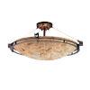 This item: Alabaster Rocks Dark Bronze Five-Light LED Semi-Flush Mount