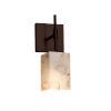 This item: Alabaster Rocks Union Dark Bronze One-Light Wall Sconce
