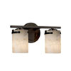 This item: Alabaster Rocks! - Atlas Dark Bronze Two-Light LED Bath Bar with Cylinder Flat Rim Alabaster Rocks Shade