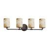 This item: Alabaster Rocks Dark Bronze Four-Light LED Bath Vanity