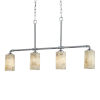 This item: Alabaster Rocks! - Bronx Polished Chrome Five-Inch Four-Light Chandelier