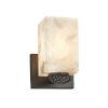 This item: Alabaster Rocks! - Malleo Dark Bronze Six-Inch One-Light Wall Sconce