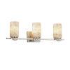 This item: Alabaster Rocks! - Malleo Dark Bronze 24-Inch Three-Light LED Bath Vanity