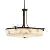 This item: Alabaster Rocks Era Dark Bronze Six-Light LED Round Bowl Pendant