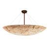 This item: Alabaster Rocks Dark Bronze Nine-Light LED Semi-Flush Mount