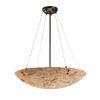 This item: Alabaster Rocks Matte Black Nine-Light LED Pendant