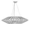 This item: Bohemia - Columba Polished Chrome 39-Inch Four-Light LED Chandelier with Clear Shade