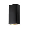 This item: Ambiance Carbon Matte Black 11-Inch Two-Light Closed Top and Bottom GU24 LED Rectangle Outdoor Wall Sconce