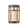 This item: Ambiance Antique Copper Six-Inch ADA Prairie Window Closed Top GU24 LED Outdoor Wall Sconce
