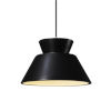 This item: Radiance Gloss Black and Antique Brass LED Pendant
