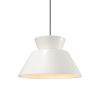 This item: Radiance Trapezoid Gloss White and Polished Chrome One-Light Pendant