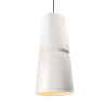 This item: Radiance Cone Gloss White and Matte Black One-Light Mini Pendant