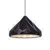 This item: Radiance Matte Black and Polished Chrome LED Pendant