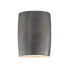 This item: Ambiance Antique Silver ADA LED Outdoor Ceramic Wide Cylinder Wall Sconce