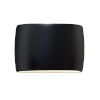 This item: Ambiance Carbon Matte Black Two-Light LED ADA Outdoor Ceramic Wide Oval Wall Sconce