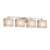 This item: Clouds Regency Brushed Nickel Four-Light LED Bath Vanity