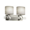 This item: Clouds Argyle Brushed Nickel Two-Light Bath Vanity with Oval Shade