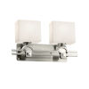 This item: Clouds Argyle Brushed Nickel Two-Light LED Bath Vanity