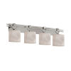 This item: Clouds Argyle Brushed Nickel Four-Light LED Bath Vanity
