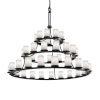 This item: Clouds Matte Black 45-Light Chandelier