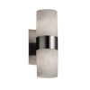 This item: Clouds Brushed Nickel Two-Light LED Wall Sconce