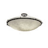This item: Clouds Dark Bronze Six-Light LED Round Semi-Flush Mount