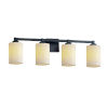 This item: CandleAria Regency Matte Black and Cream Four-Light LED Bath Vanity