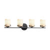 This item: CandleAria Atlas Matte Black and Cream Four-Light LED Bath Vanity