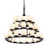 This item: CandleAria Dark Bronze and Cream 36-Light Chandelier