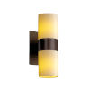 This item: CandleAria Dark Bronze and Cream Two-Light LED Wall Sconce