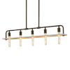 This item: Eco - Bronx Polished Chrome Five-Inch Five-Light Chandelier