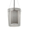 This item: Textile Amani Polished Chrome and Gray One-Light Pendant