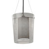 This item: Textile Amani Brushed Nickel and Gray One-Light Pendant
