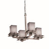This item: Textile Metropolis Brushed Nickel and Gray Four-Light Chandelier